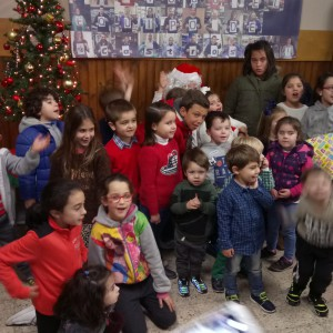 Los niños con Papá Noel