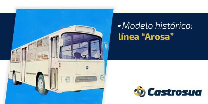 Autobús urbano Arosa carrocería histórica de Castrosua