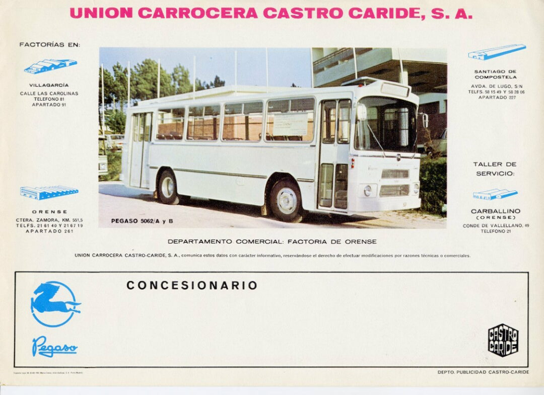 autobús histórico modelo arosa Castrosua
