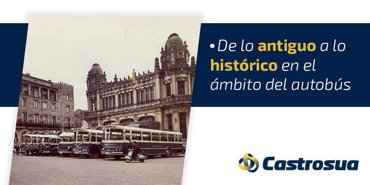 delo antiguo a lo histórico en el ámbito del autobús
