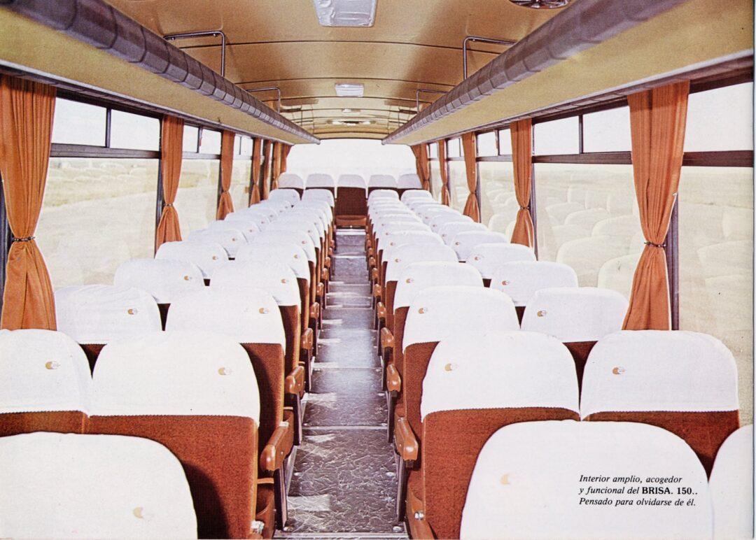 Interior del modelo Brisa carrozado por Castrosua